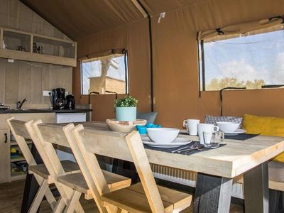 Photo for Camping Les Rives du Lac *** - Cozy Lodge 3 rooms for 5 people