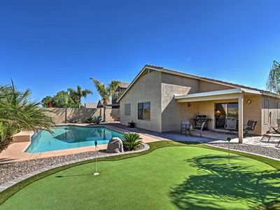 Photo for Quiet 4 Bedroom Goodyear House w/Private Pool & Putt Green