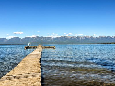 Photo for Polson Home On Flathead Lake w/Pvt Dock+Mtn Views!