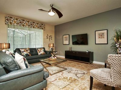Photo for GAMEROOM, JACUZZI, DISNEY THEMED KIDS ROOMS, 2 MASTER SUITES AND 2 LIVING ROOMS!!!