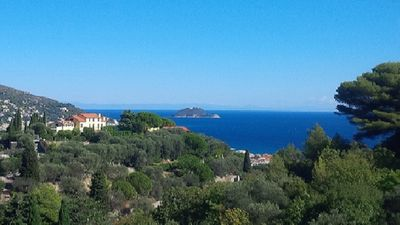 Photo for Low season low price. Attic on the hills of Alassio, facing the sea. 2 + 2 beds