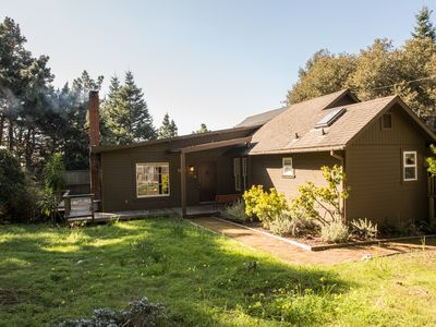 Photo for Relax in this beautiful home featuring private decks overlooking Mendocino views