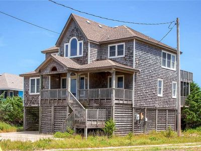 Photo for Alluring Semi-Oceanfront Views in Salvo w/ Bubbling Hot Tub, WiFi & Beach Access