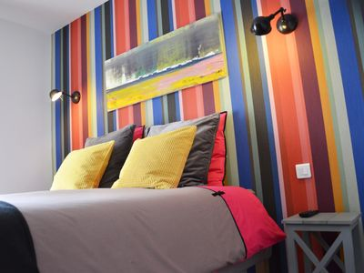 Photo for Beautiful bed and breakfast on the top of Arromanches les Bains,