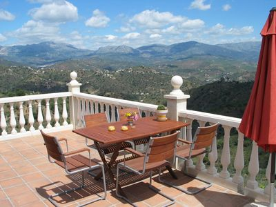 Photo for Villa with private heated pool and great view: peace and space guarantee