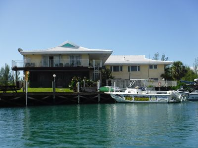 Photo for Spacious 3 Bedroom Waterfront Condo, Walk to Beach/Port Lucaya,  Dockage include