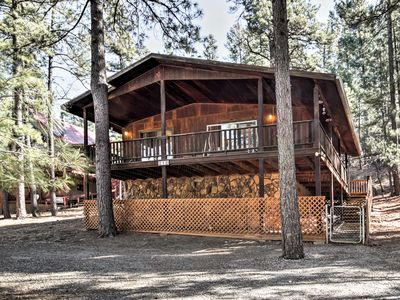 Photo for Ruidoso Cabin w/ Forest Views - Mins to Ski Apache