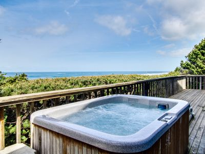 Photo for Stunning oceanfront home w/ private hot tub & 140-degrees of stunning views!