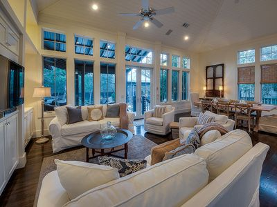 Photo for The Zen Den, 30A Cottages, Outdoor Oasis w/ Private Pool & Spa, 6 Bikes!
