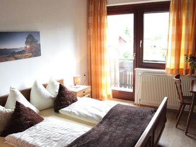 Photo for Double room Arnika / Enzian with shower, WC, balcony - Gästehaus Nassfeld
