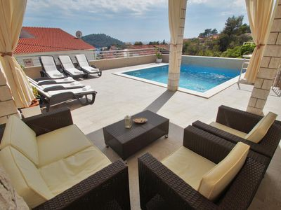 Photo for Family friendly house with a swimming pool Brna, Korčula (K-13943)