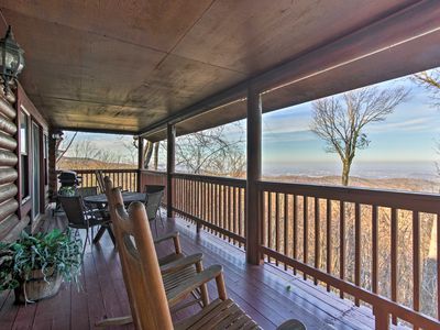 Photo for Cabin w/Deck, Hot Tub + Incredible Smoky Mtn Views