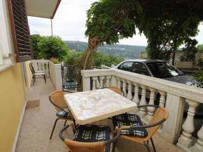 Photo for One bedroom apartment with terrace and sea view Opatija - Volosko, Opatija (A-7897-a)