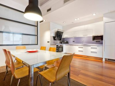 Photo for Next to the beach, bright, modern and spacious.