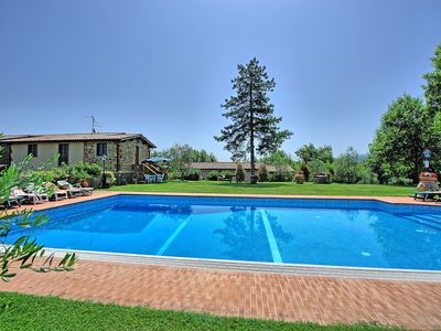 Photo for Private Villa with private pool, hot tub, WIFI, TV, patio, washing machine, panoramic view, parking