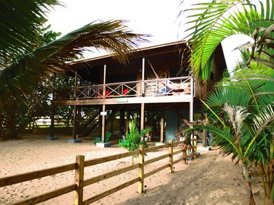 Photo for Beachfront Rental Blue Moon Cabana, Hopkins Village, Belize
