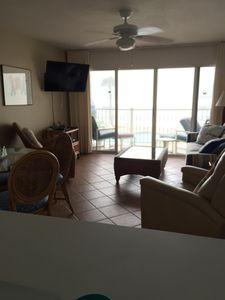 Family room with sleeper sofa and 2 recliners! ENJOY that direct oceanfront VIEW