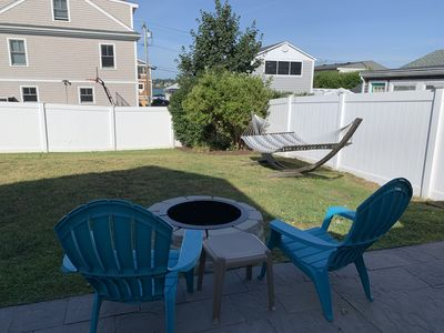 Photo for Steps to the Beach! Central Air. Outdoor shower. Fire Pit. Hammock. Fenced yard.