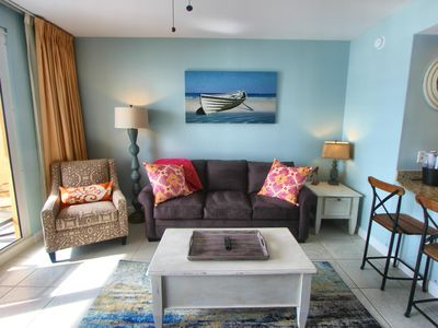 Photo for NO MANAGEMENT FEES! Splash! 1BR, 2BA, 1st Floor w/View! Beach Service Included!