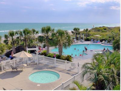 Photo for Ocean Club Resort - Oceanfront, Pool front with heated pool. Sound side pier