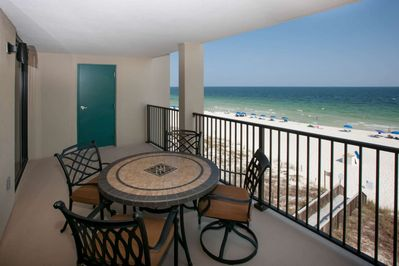 Large private balcony w/Gulf-front views