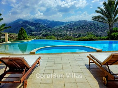 Photo for Amazing Luxury Villa, In Paphos, Extremely Large Pool. Jacuzzi, Gym, Games Room