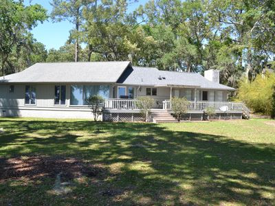Photo for Direct Waterfront with Dock! Sunset Cottage at Colonels Island near Savannah