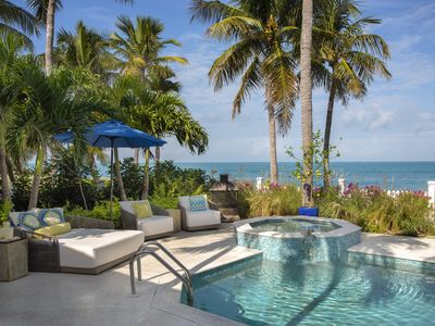 Photo for Luxurious Tropical Oasis near Key West, right on the BEACH