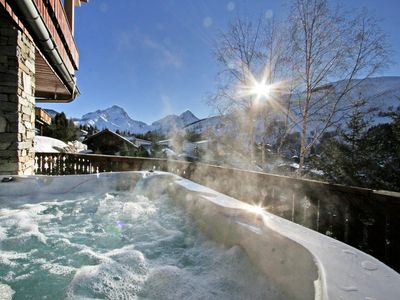 Photo for Chalet 12 people, beautiful view, outdoor spa, close to the slopes