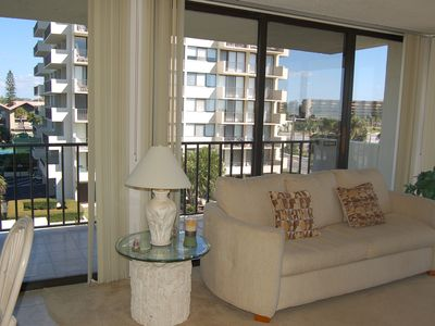 Photo for Our House at the Beach W-304 2 balconies, beach view!