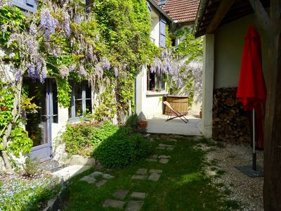 Photo for Charming village house, cozy, garden, comfortable, 1 hour from Paris