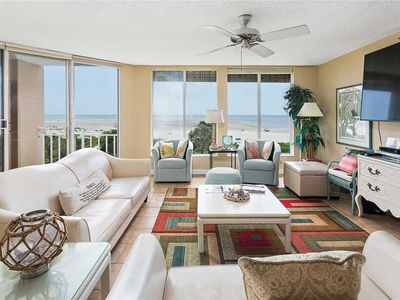 Photo for Oceanfront Condominium with Gorgeous Ocean Views. Pool and Private Boardwalk to Beach