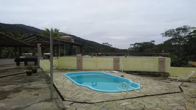 Photo for Leisure and rest with barbecue, swimming pool, near the beach and waterfalls.