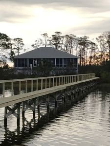 The view of the house from the dock