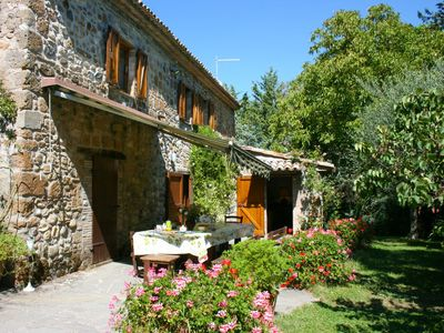 Photo for Old independent farmhouse  with free wi-fi  private pool and garden.. Peaceful and panoramic. Orviet