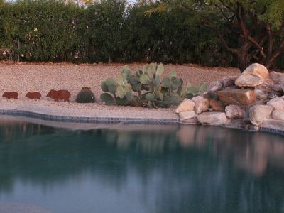 Private Pool & Hot Tub!  Pet Friendly! Come relax in our private back yard.