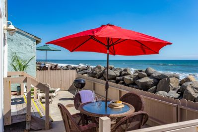 Enjoy Your Lunch Out on Your Private Oceanfront Deck