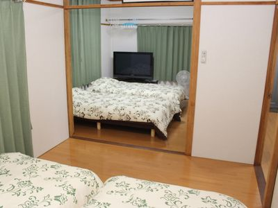 Photo for 4 beds Reliable simple accommodation business permission facility Spacious 45m2 that can be used by families 30 minutes to Fukuoka Metropolitan Dazaifu JR Kasuga Station Nishitetsu Kasugahara Station Hikarimachi 3-chome Bus Stop in front of convenience store