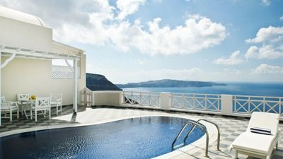 Photo for One bedroom Caldera Villa Santorini Private Pool 2guests