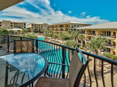 Photo for Adagio E304 top floor pool front three bedrooms with bunk room, pools, gym!!