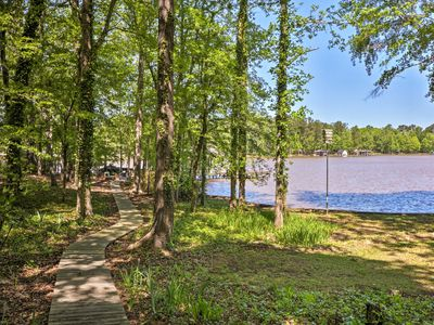 Photo for Lakefront Milledgeville Cabin: Private Dock, Porch