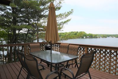Front deck over looking lake.
