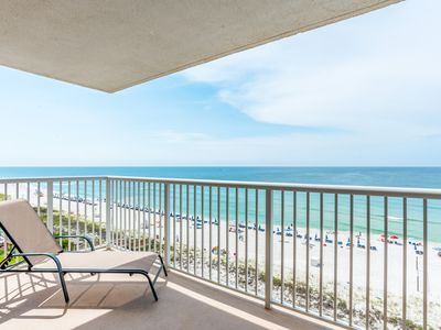 Photo for Watch the Dolphins play from your huge Beachfront Balcony!