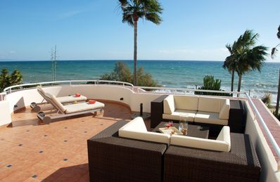 Photo for Superb first line beach apartment. Amazing terrace. Stunning views to the sea