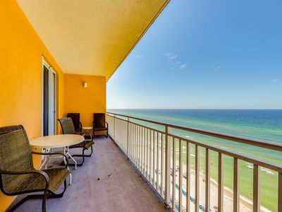 Photo for Superb waterfront condo w/ private balconies, shared pools, & a fitness center