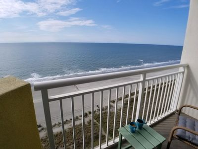 Photo for BAY WATCH RESORT N. Myrtle OCEANFRONT BALCONY 1 Bdrm sleeps 6. *all new*