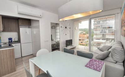 Photo for Apartment Sun Village, 150 m from the beach, 3 bedrooms, WIFI, terrace.