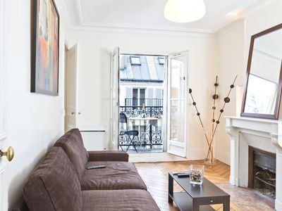 Photo for Lovely 1BR with Balcony Steps from the Seine and Notre Dame