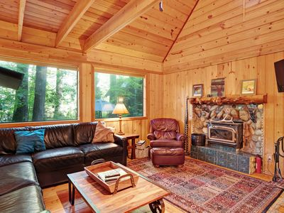 Photo for Private retreat w/main home and two cabin featuring 12-person hot tub!