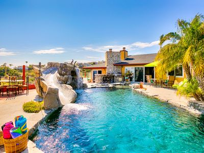 Photo for Private Retreat w/ Pool, Slide, Jacuzzi + Ocean Views